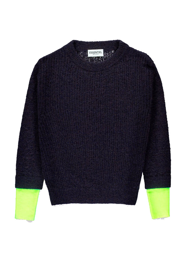 Volta nylon neon cuff sweater by Essentiel Antwerp