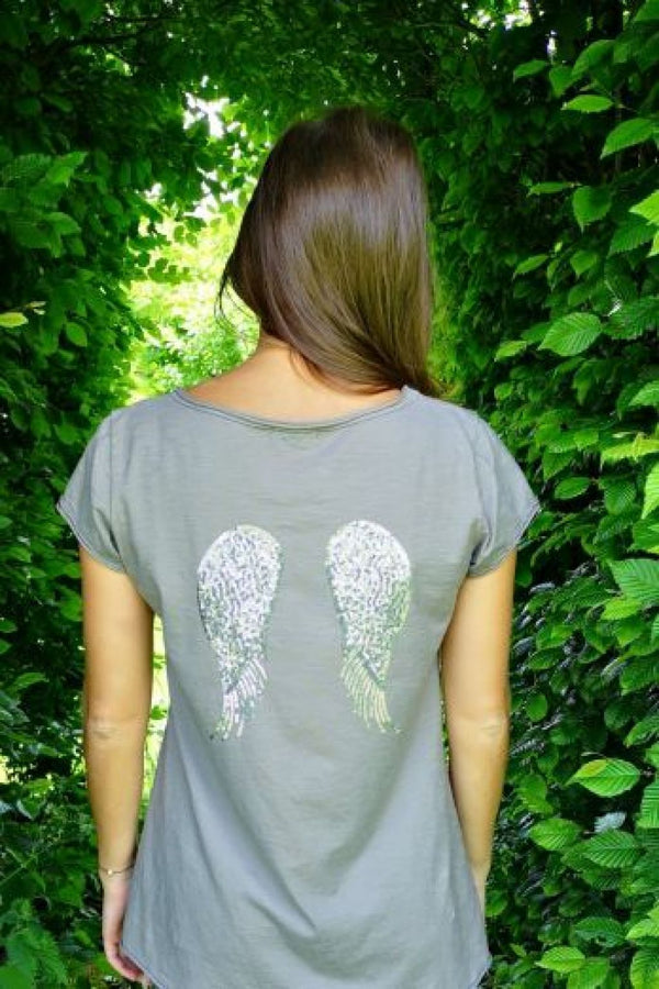 Luella Sequin Wings T Shirt