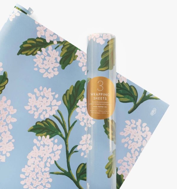 Rifle Paper Co Hydrangea Gift Wrap Roll