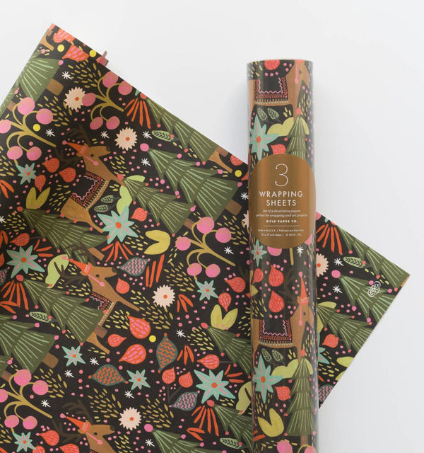 Rifle Paper Co Feliz Navidad Christmas Gift Wrap