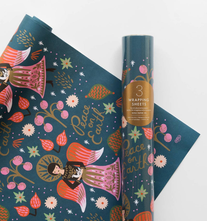 Rifle Paper Co Peace on Earth Christmas Gift Wrap