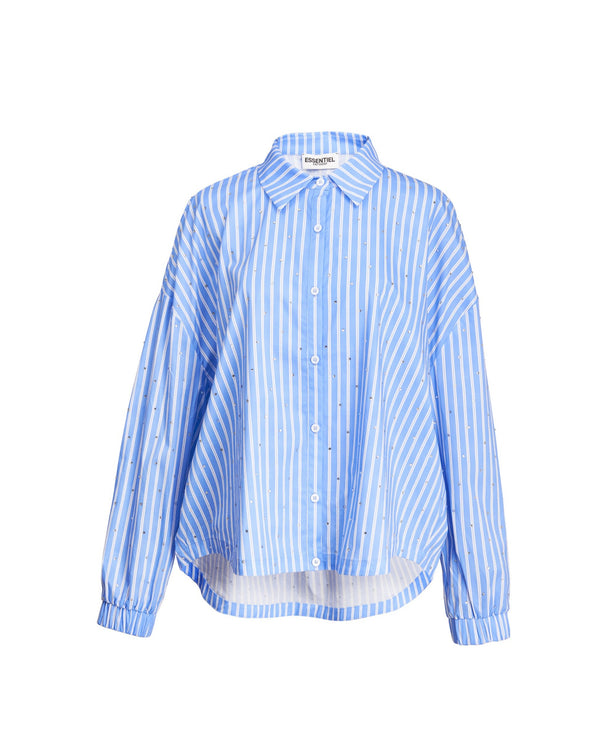 Essentiel Antwerp Zaboon Cotton Shirt in Blue
