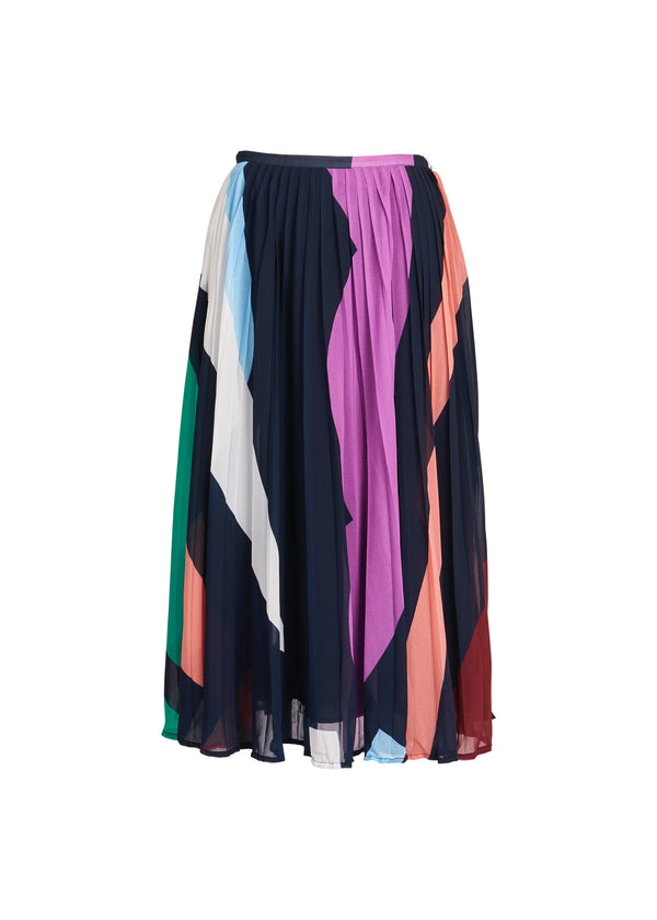 Essentiel Antwerp Zalerie Pleated Skirt in Navy