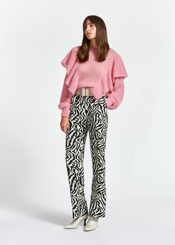 Essentiel Antwerp Zegeta Animal Print Trouser