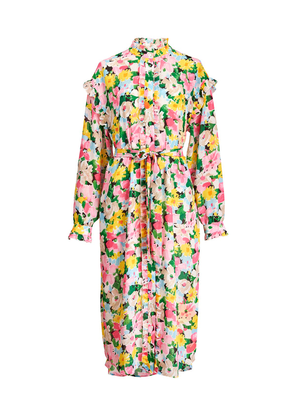 Essentiel Antwerp Zider Floral Print Dress in Pink