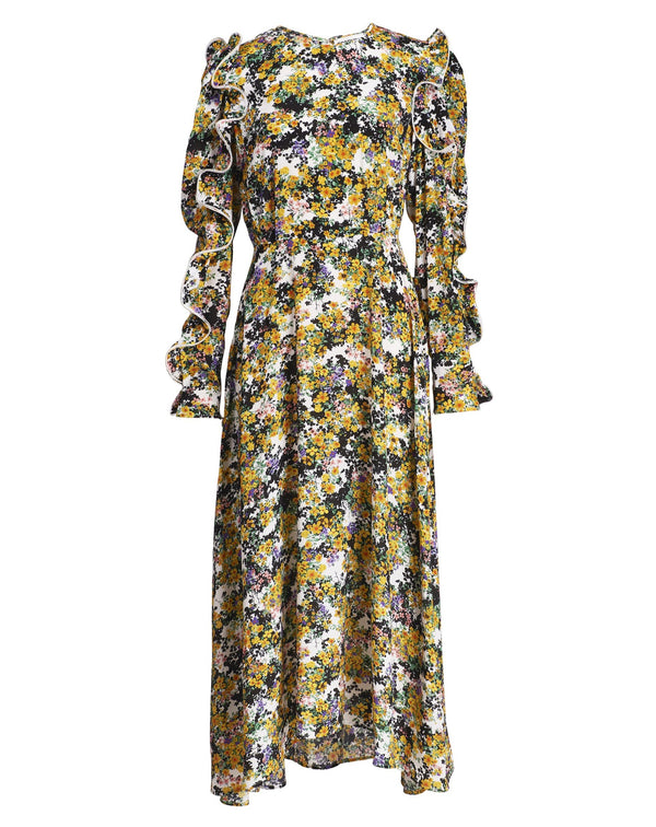 Essentiel Antwerp Zilby Floral Print Ruffled Dress