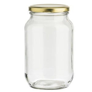 Set of 2 large yoghurt jars