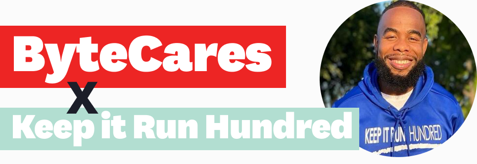 ByteCares and Keep it Run Hundred collaboration banner