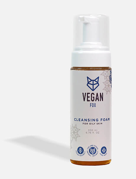 Vegan Fox Cleansing Foam for Oily Skin -puhdistusvaahto