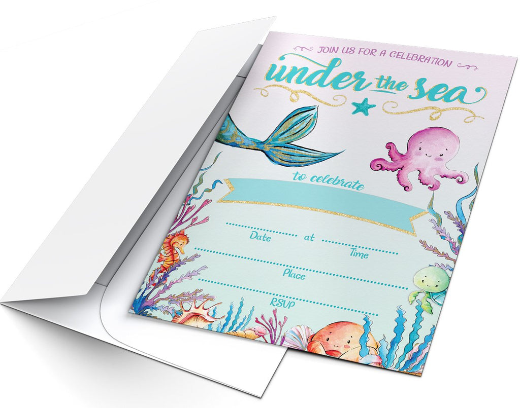Under the Sea Party Invitations