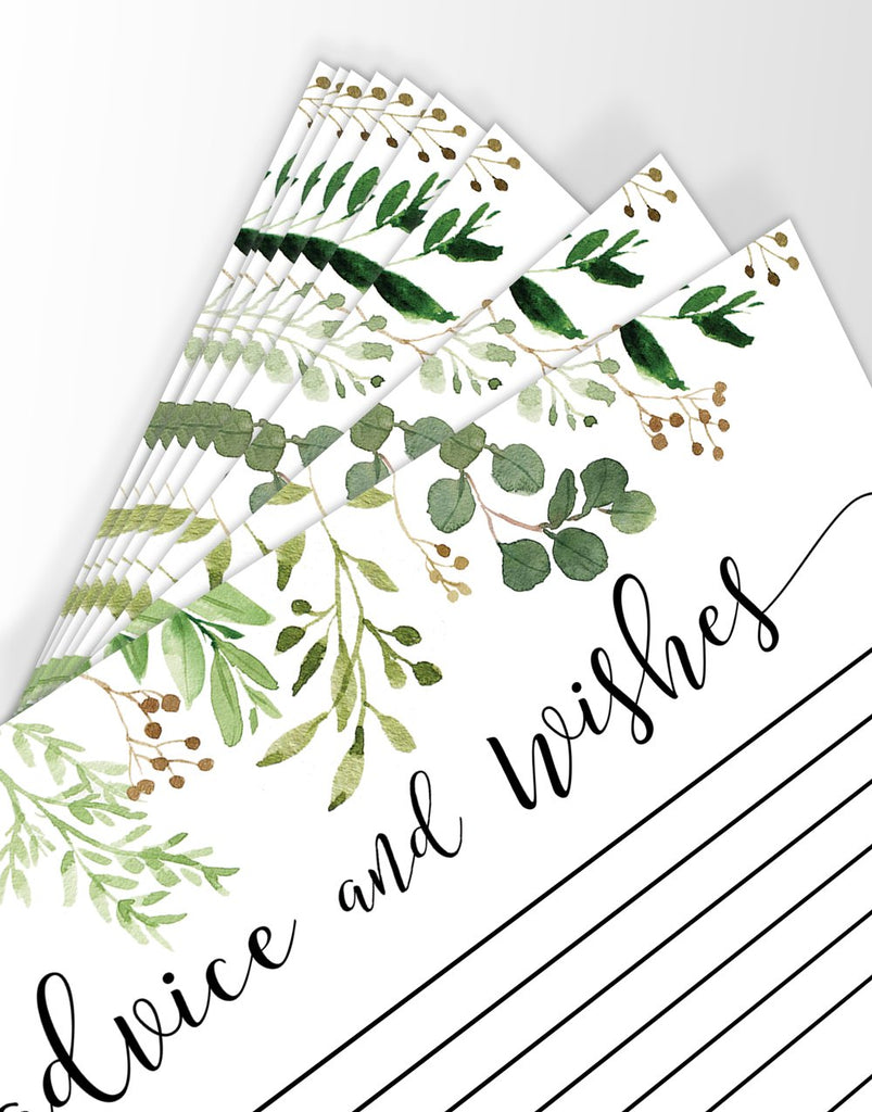 Greenery Advice Cards