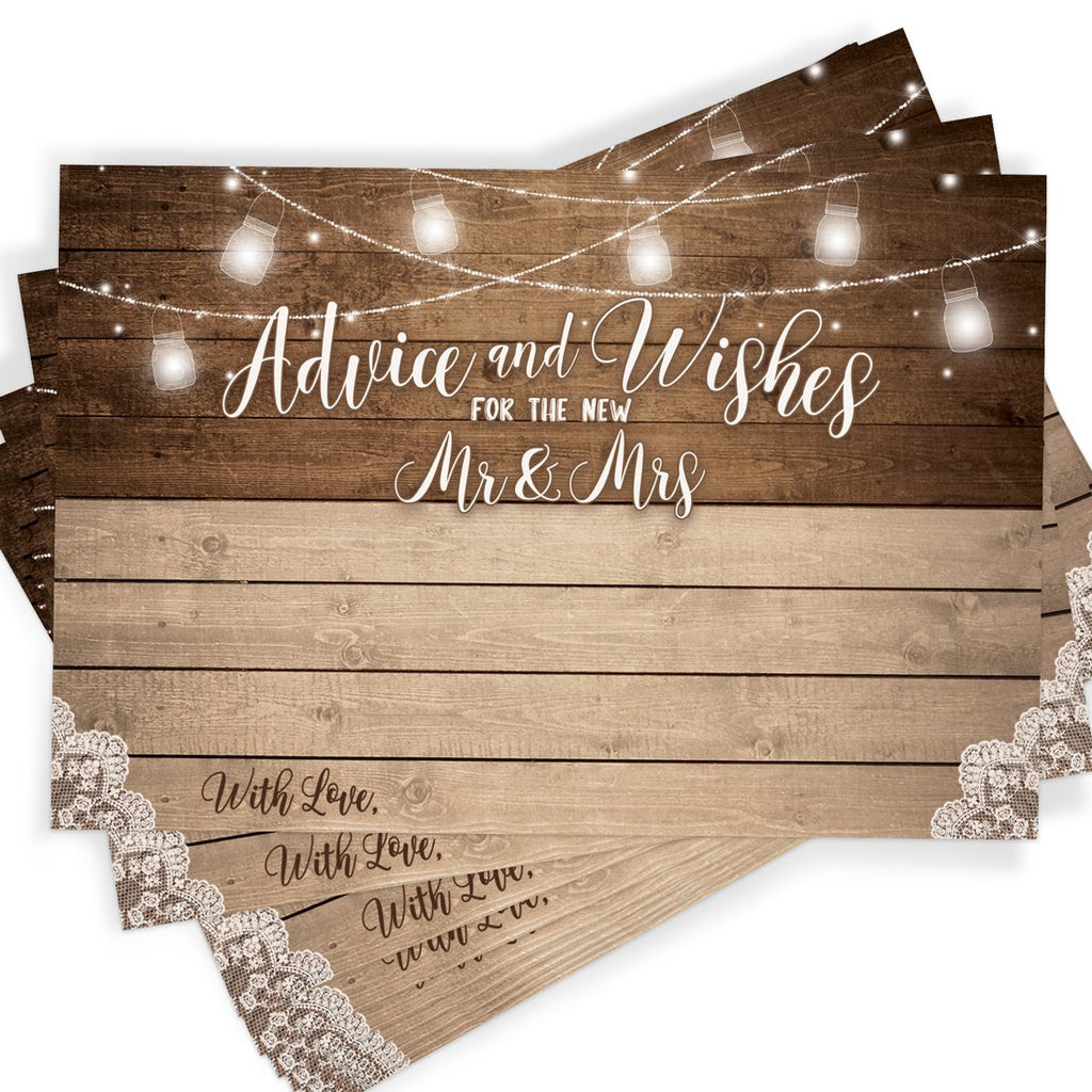 Rustic Advice Cards
