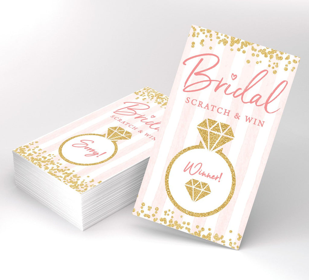 Bridal Shower Ring Scratch Off Game