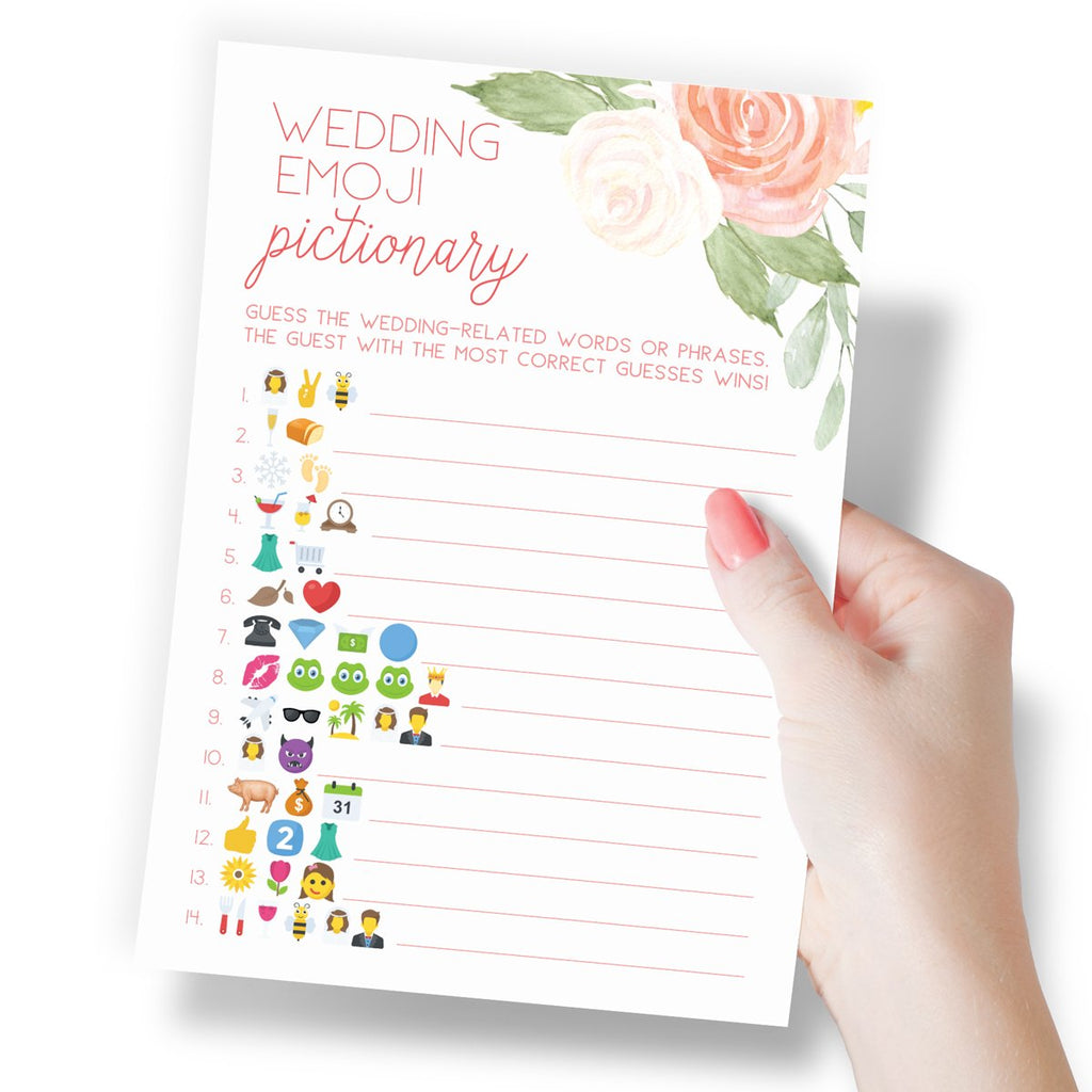 Floral Bridal Emoji Pictionary