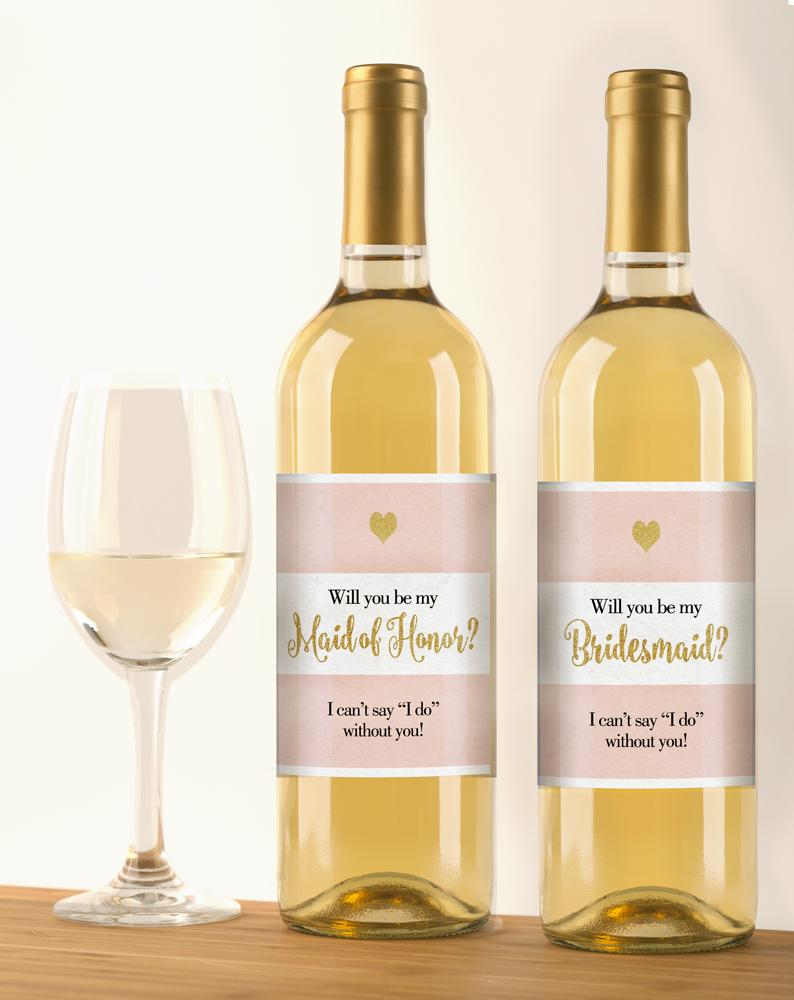 Will You Be My Wine Bottle Labels