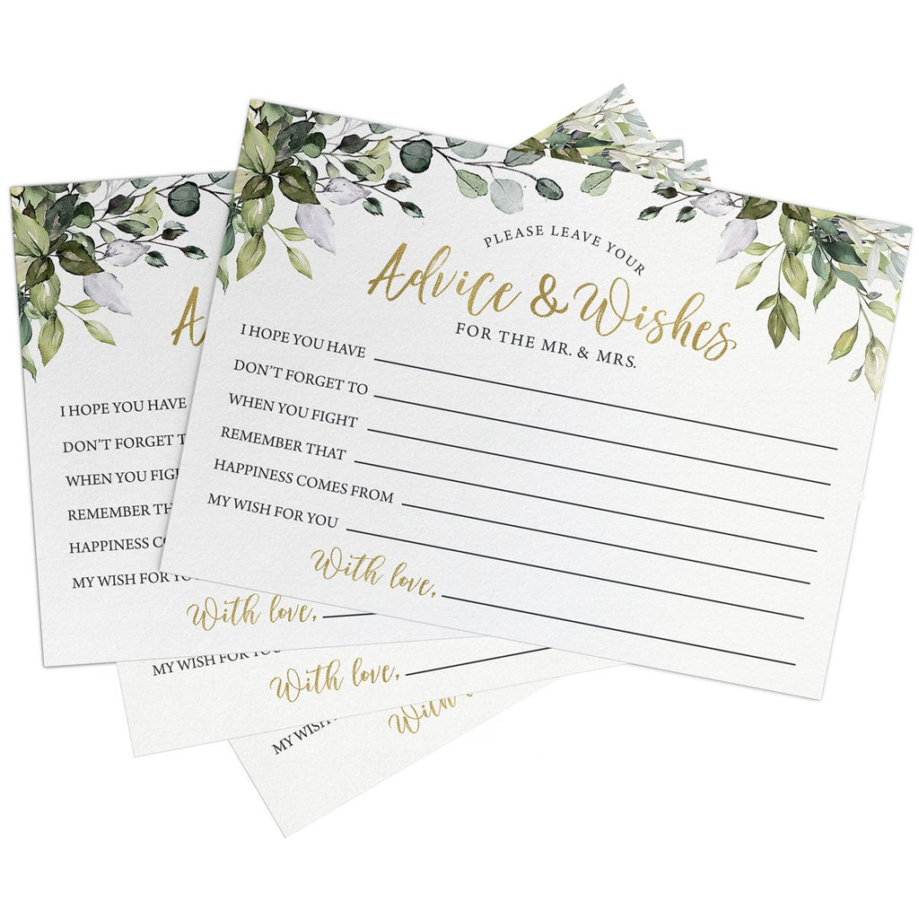 Eucalyptus Bridal Advice Cards