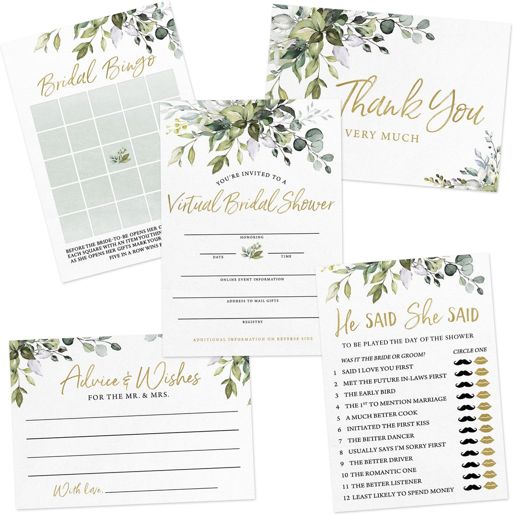 Eucalyptus Virtual Bridal Shower by Mail