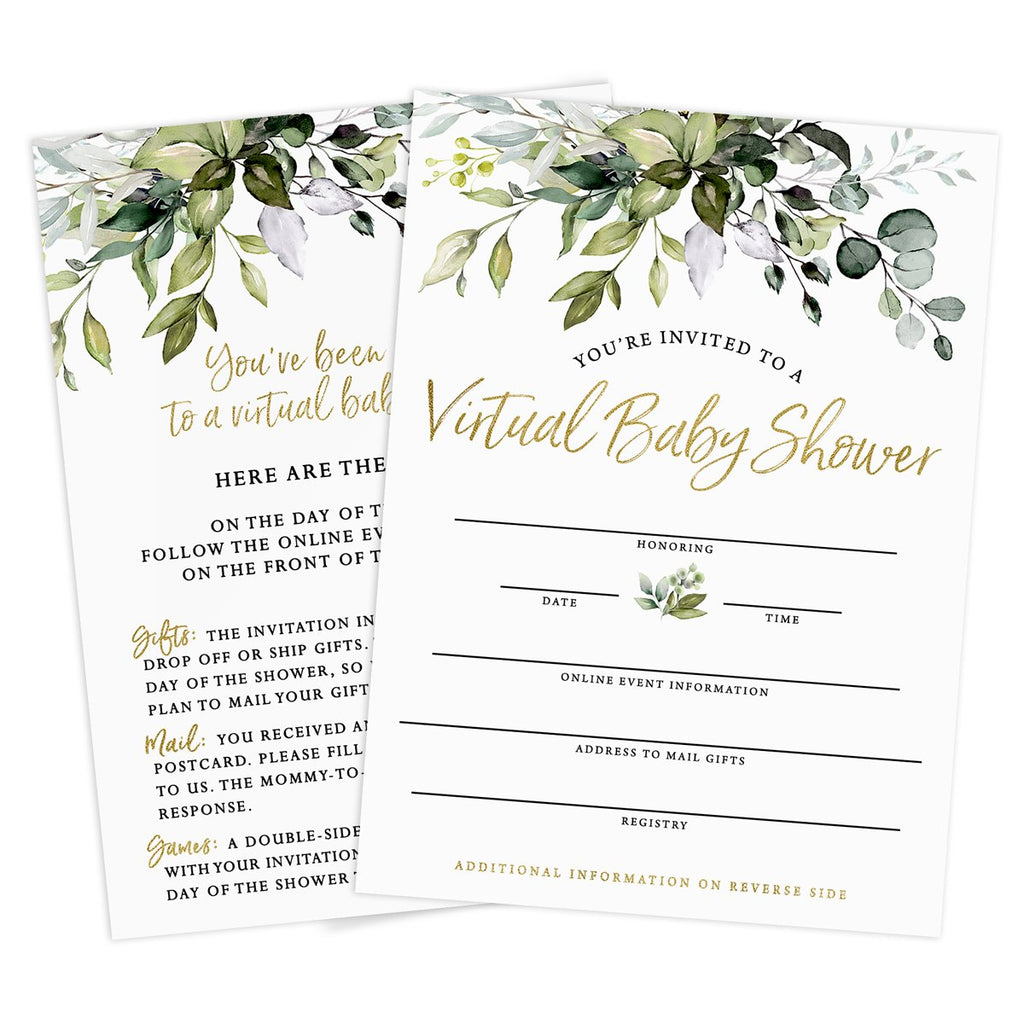 Eucalyptus Virtual Baby Shower by Mail