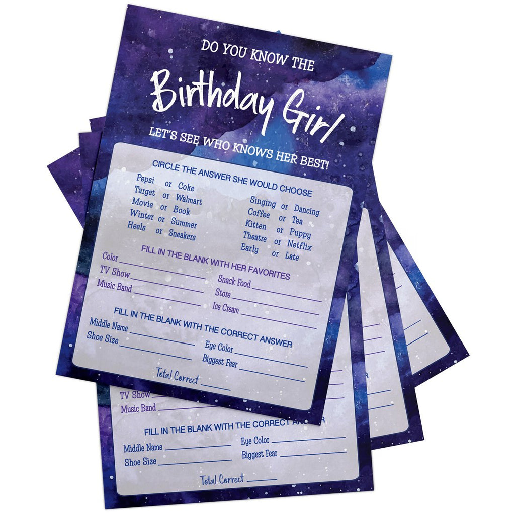 Galaxy Birthday Party Game