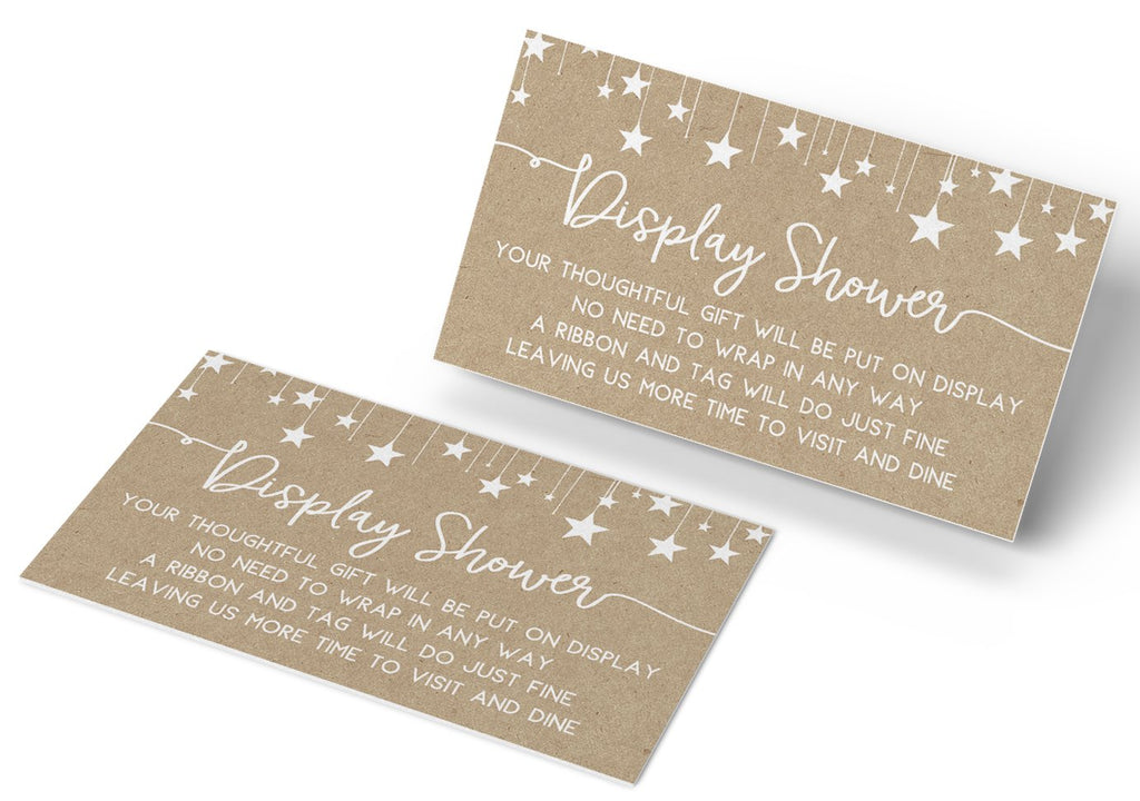 Kraft Baby Gift Display Cards