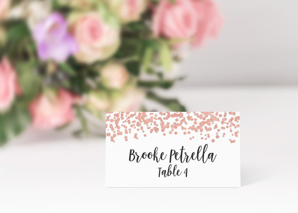 Rose Gold Place Cards