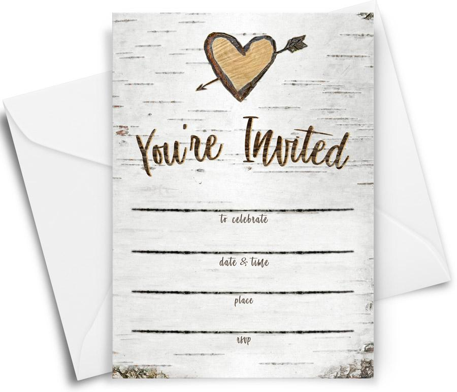 Birch Party Invitations