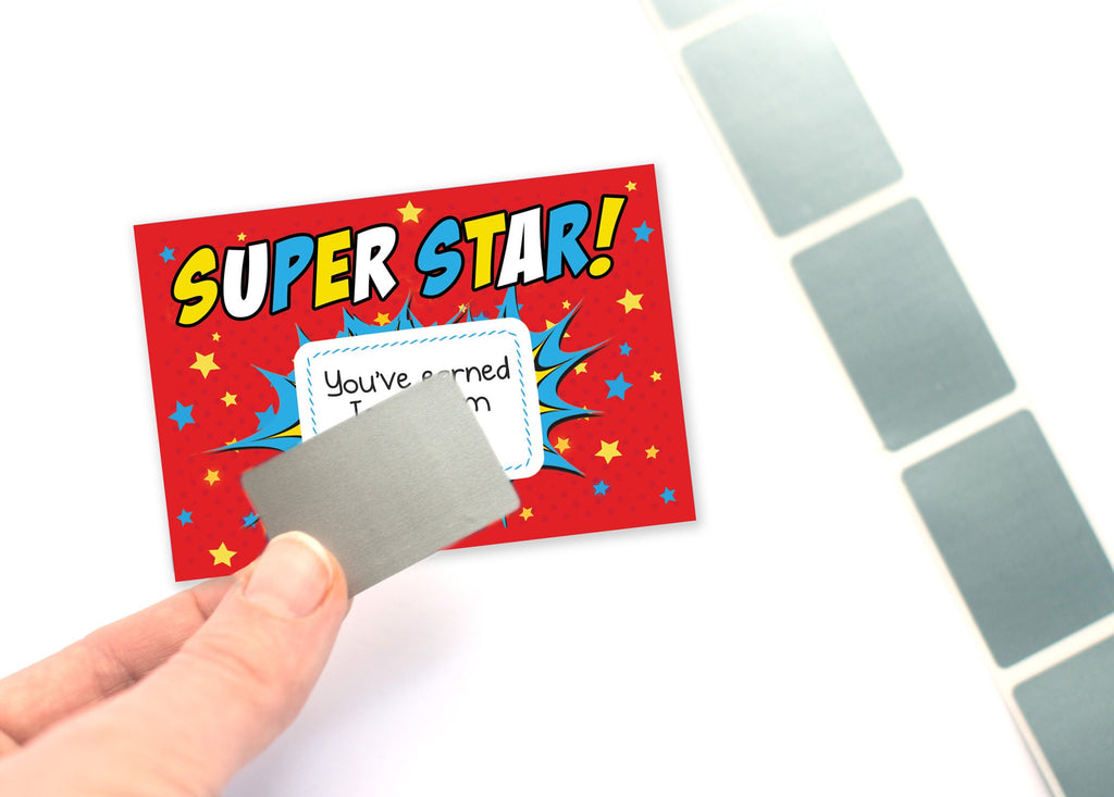 Superboy Scratch Off Reward Cards