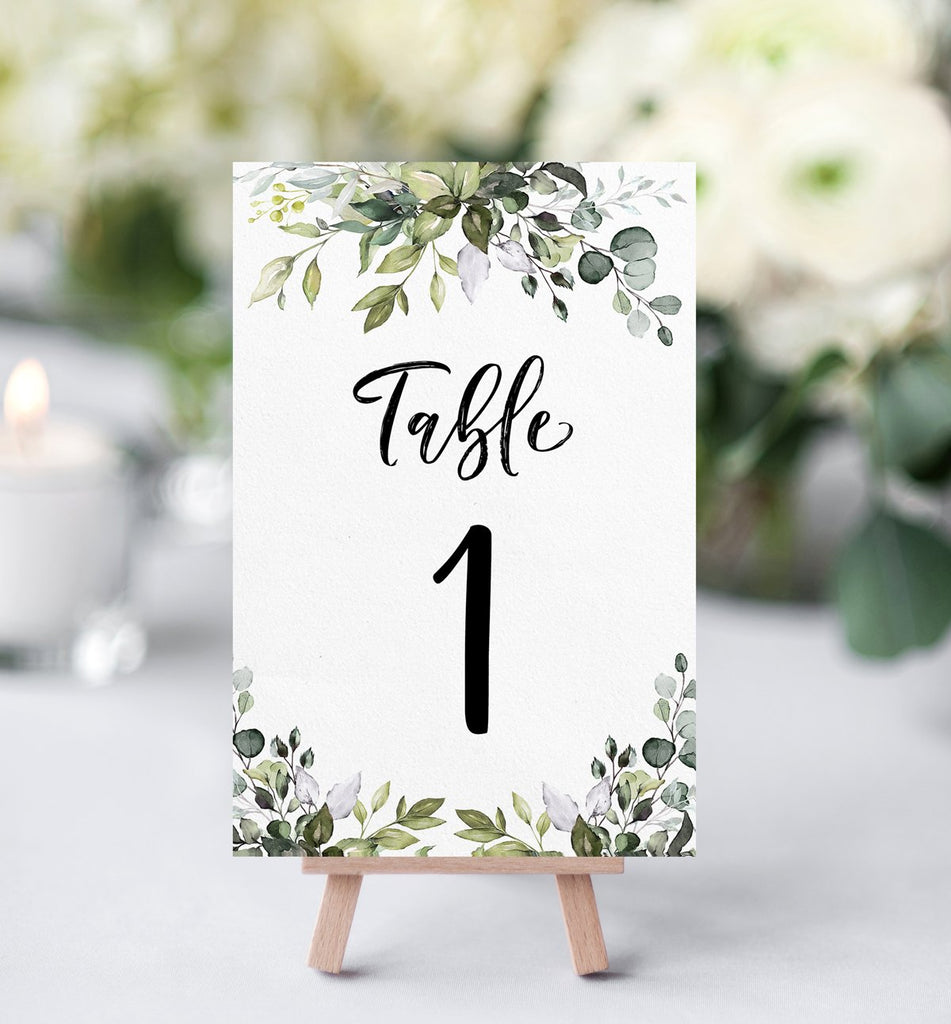 Eucalyptus Table Numbers