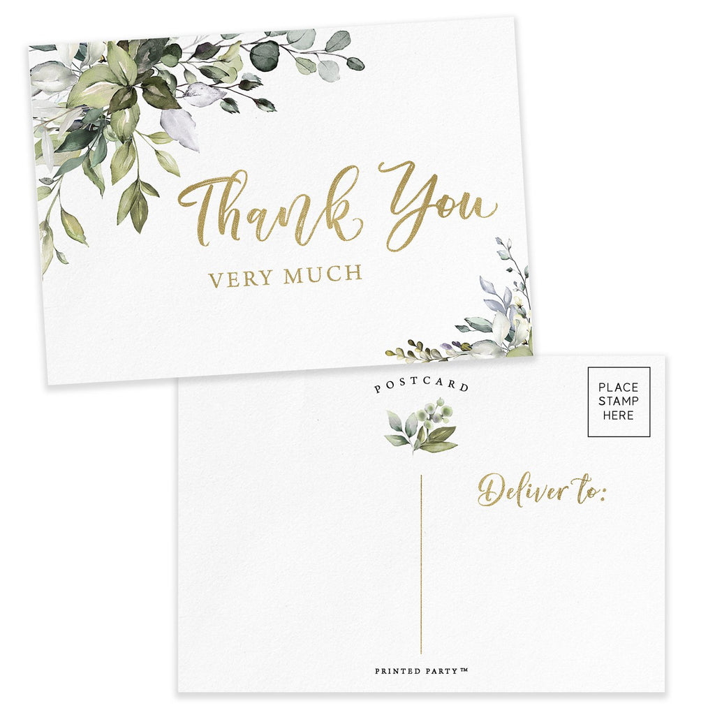 Greenery Eucalyptus Thank You Cards