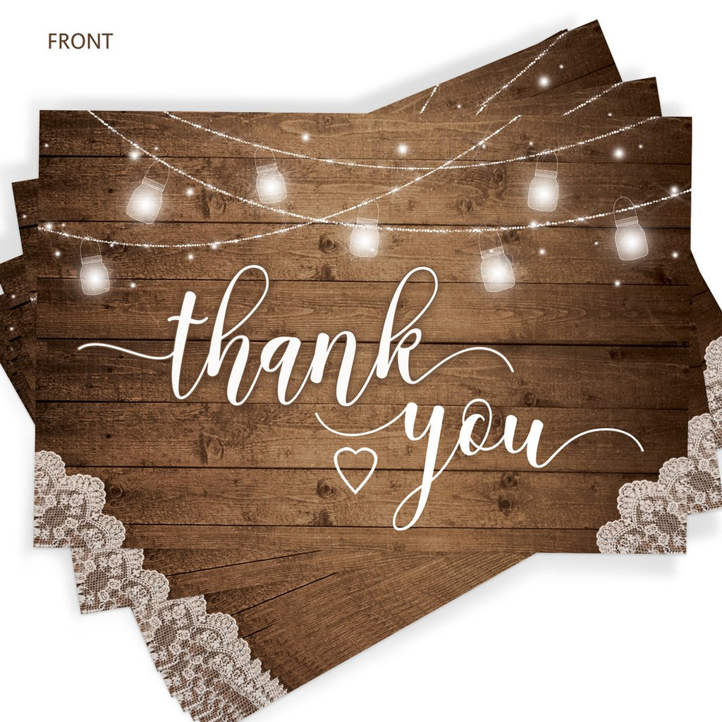 Rustic Thank You Cards
