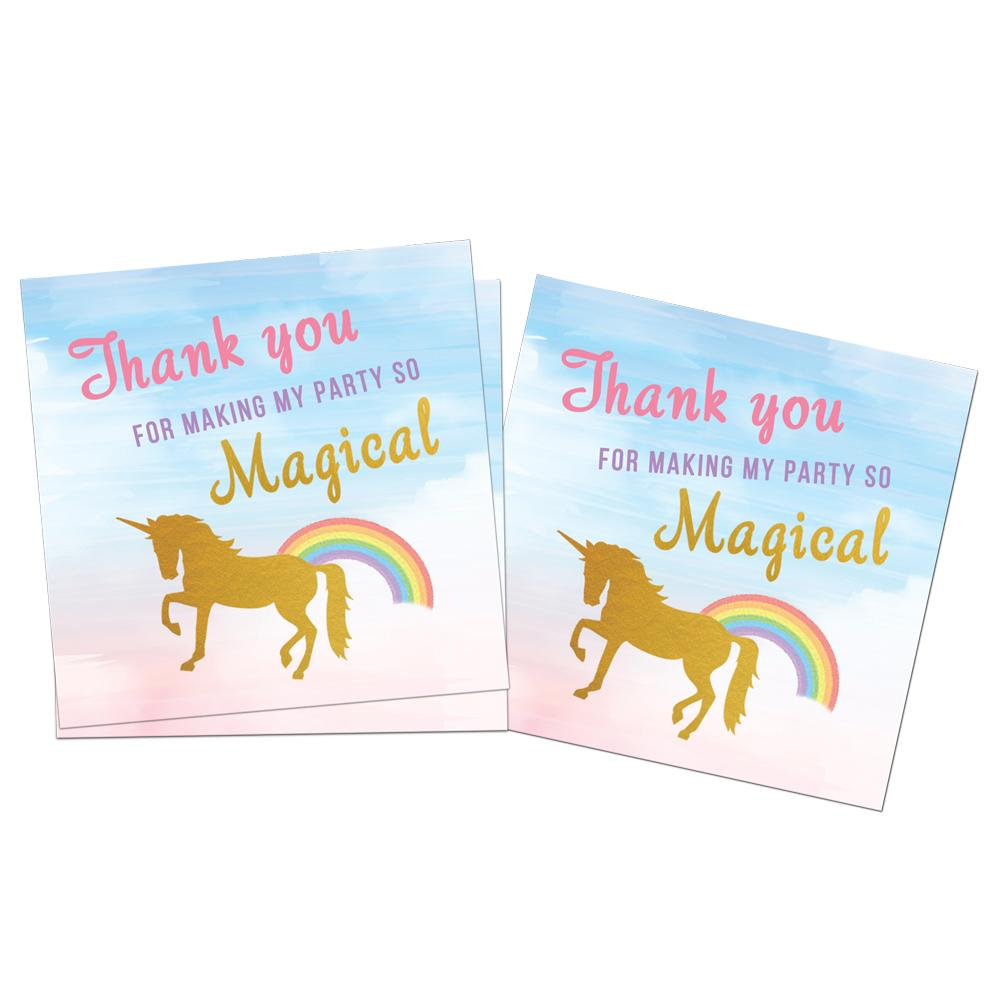 Unicorn Birthday Invitations and Favor Tags