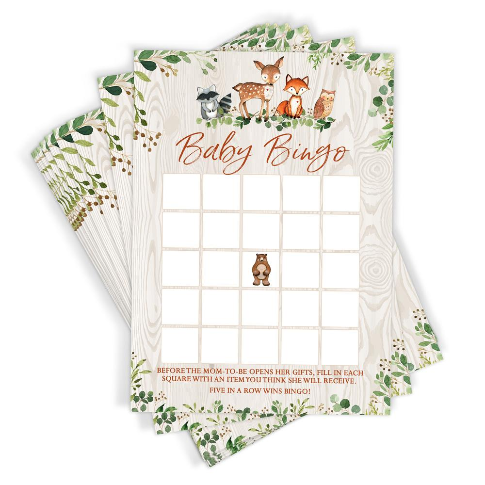 Woodland Baby Bingo Game