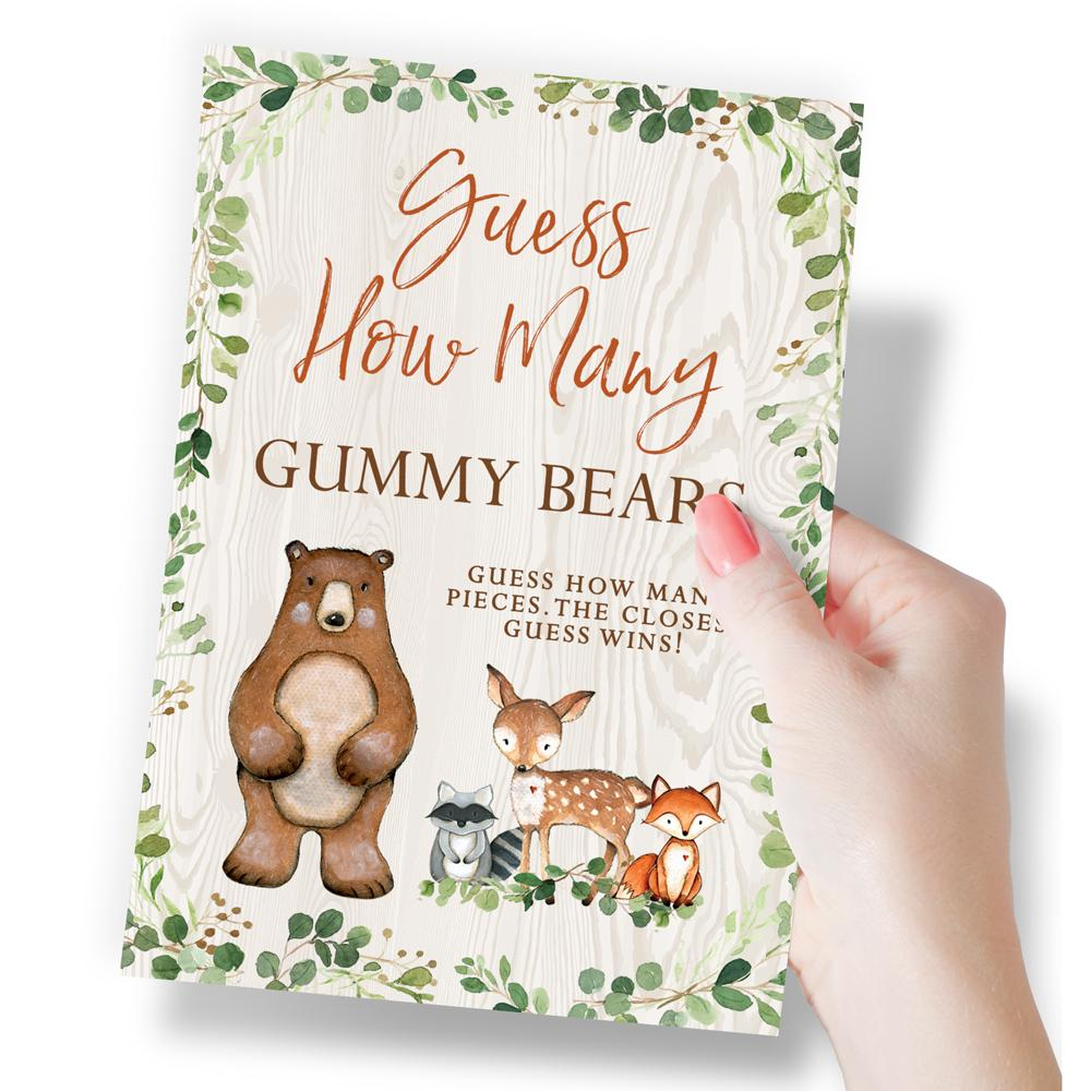 Woodland Baby Guessing Game