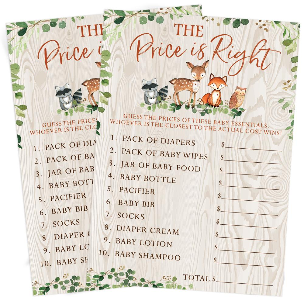 Woodland Baby Price Game