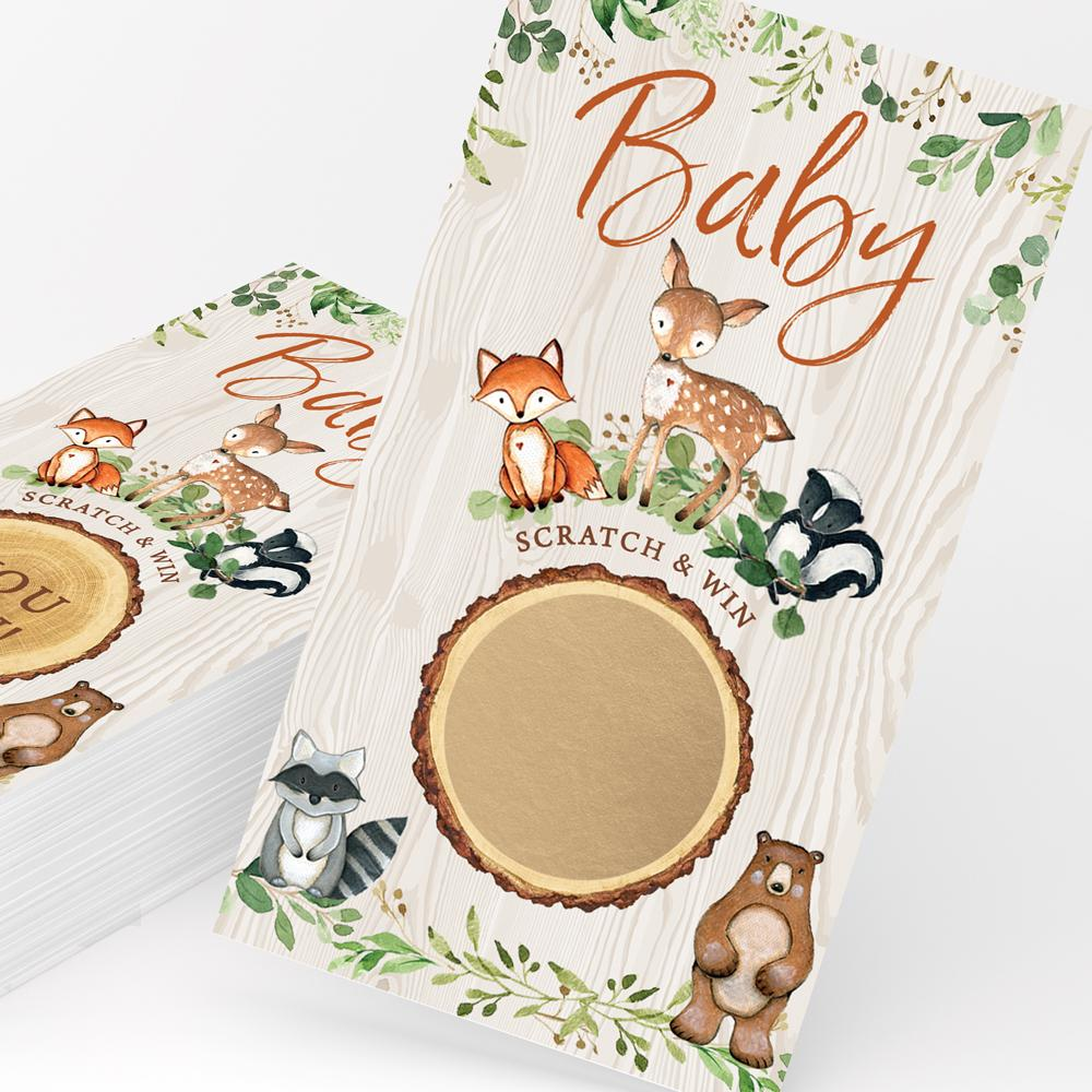 Woodland Baby Scratch Off Cards