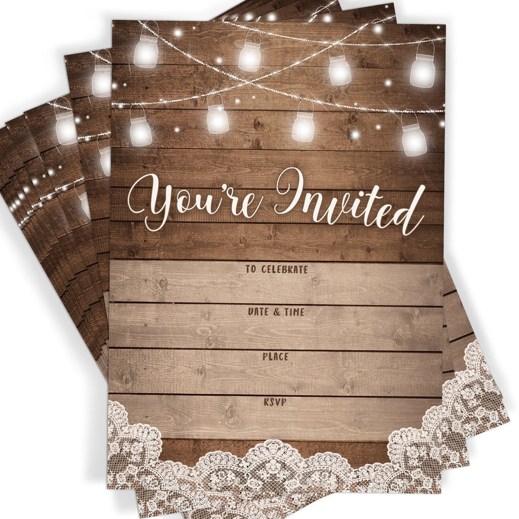 Rustic Party Invitations