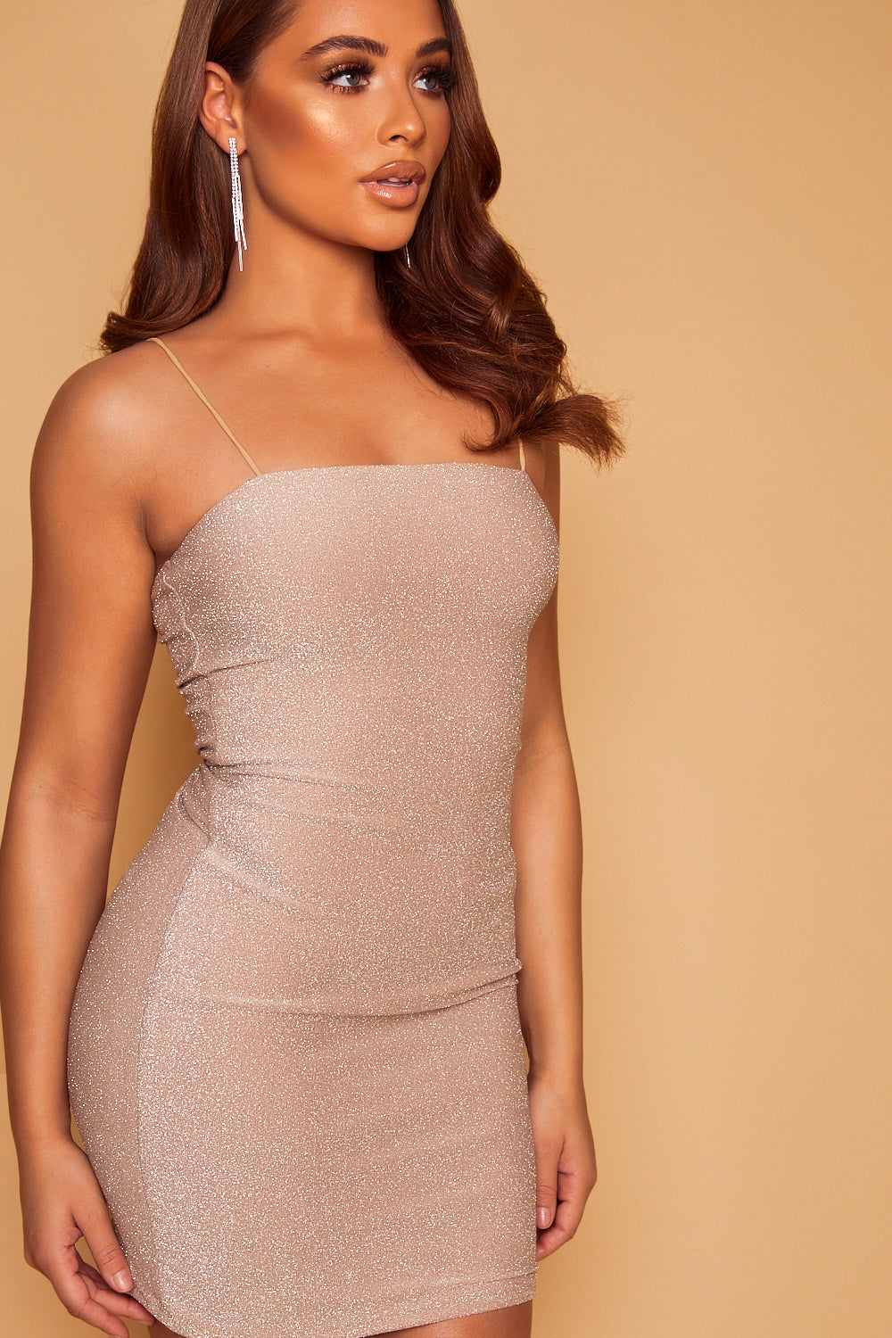 Cayenne Shimmer Dress - Champagne