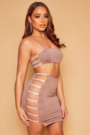 Estella Crystal Set - Mocha