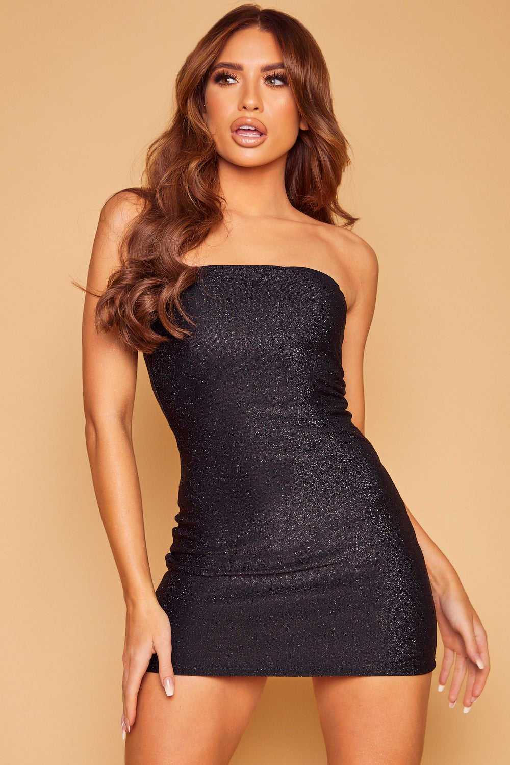 Shimmy Lurex Shimmer Dress - Black