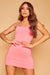 Ashanti Crystal Ruched Dress - Pink