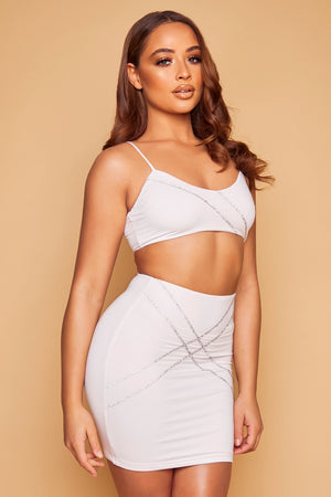 Starlette Criss Cross Set - White