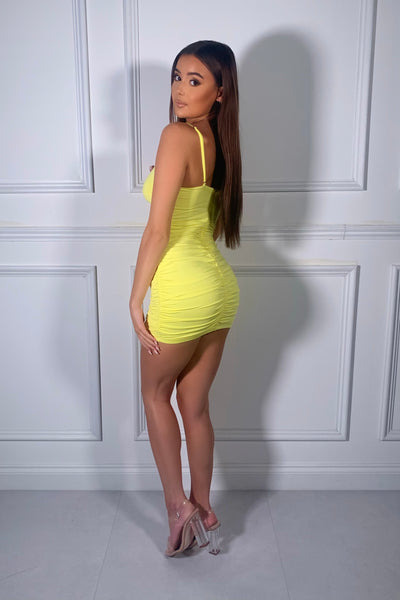 Gizele Crystal Dress - Yellow
