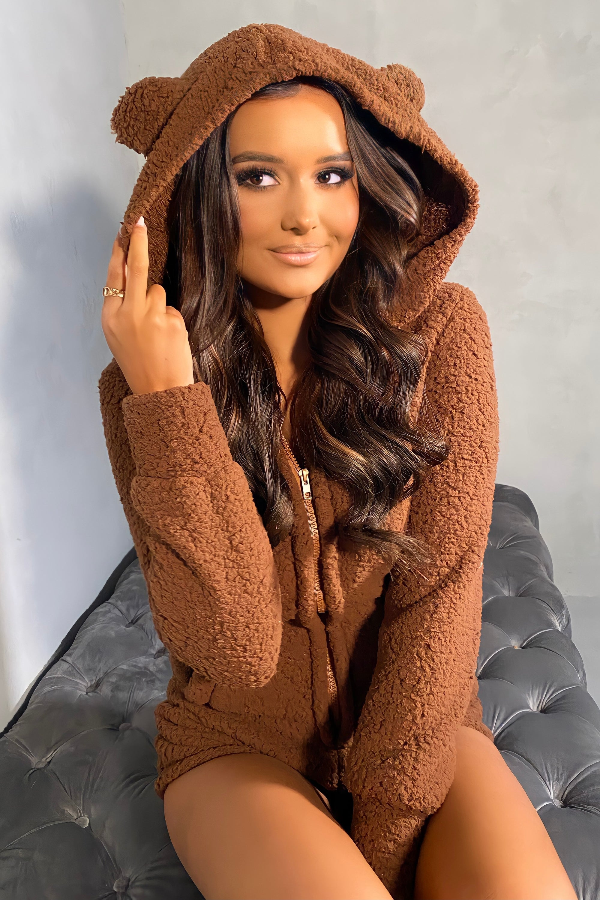 Teddy Romper - Brown