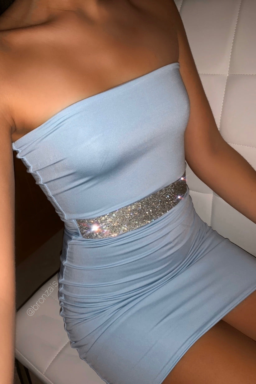 Diamelle Crystal Dress - Blue