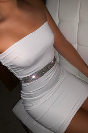 Diamelle Crystal Dress - White (Pre-Order)