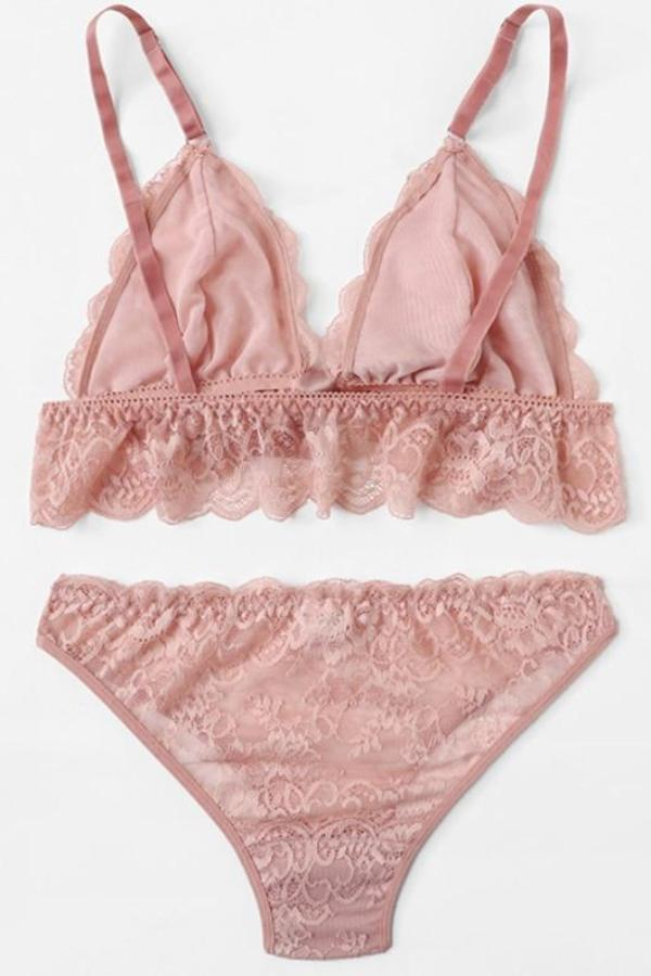 Lovely Pink Underwear Set