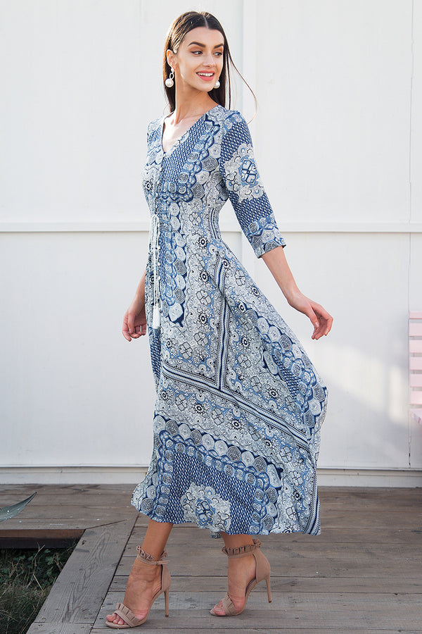 Boho chic maxi summer dress