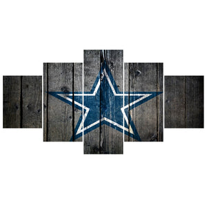 5 Pcs FootBall Sport Cowboys Team Paintings Wall Home Decor Dallas Picture Canvas Painting Calligraphy For