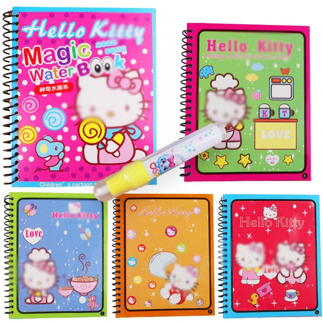 10 Types Magic Water Drawing Book Coloring Book Doodle & Magic Pen Painting  Drawing Board For Kids Toys Birthday Gift