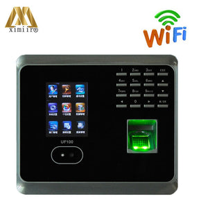 ZK UF100 Face Recognition Time Attendance System With Fingerprint Reader  Multi-language TCP/IP WIFI Facial Time Clock